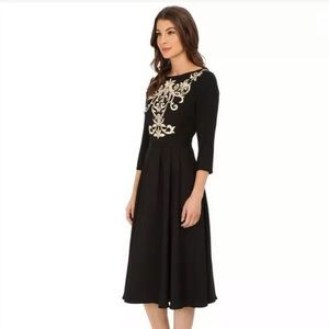NWT Ted Baker Embroidered Dress Black Size 1 US 4